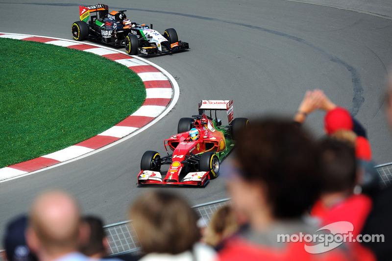 Fernando Alonso, Ferrari F14-T ve Nico Hulkenberg, Sahara Force India F1 VJM07