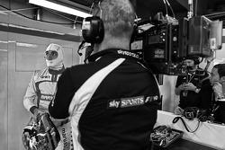 Jules Bianchi, Marussia F1 Team con Sky Sports F1 Cameraman