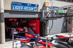 Ligier-Nissan pit
