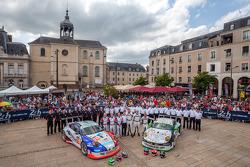 #67 IMSA Performance Matmut Porsche 911 GT3 RSR (997): Erik Marris, Jean-Marc Merlin, Eric Helary; #76 IMSA Performance Matmut Porsche 911 GT3 RSR (997): Raymond Narac, Nicolas Armindo, David Hallyday