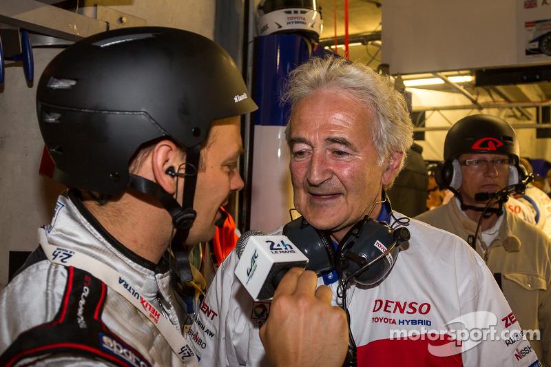 Hugues de Chaunac intervistato dopo la vittoria della pole Toyota