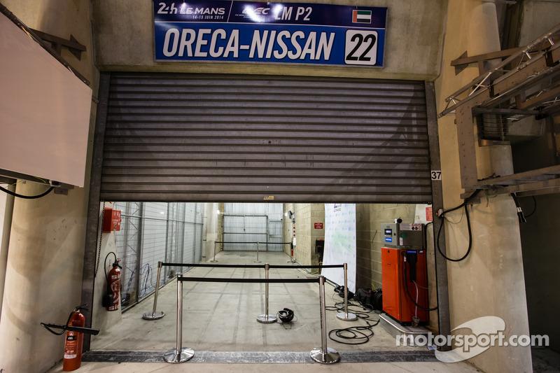 Empty garage area for Millenium Racing
