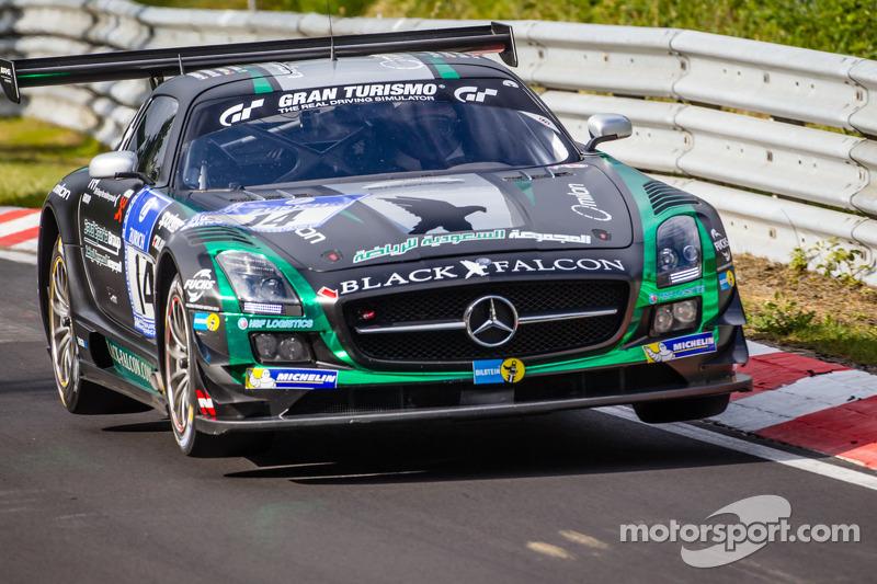 #14 Black Falcon 梅赛德斯-奔驰 SLS AMG GT3: 阿卜杜拉兹·阿尔费萨尔, 胡贝·豪普特, 亚当·克里斯托杜卢