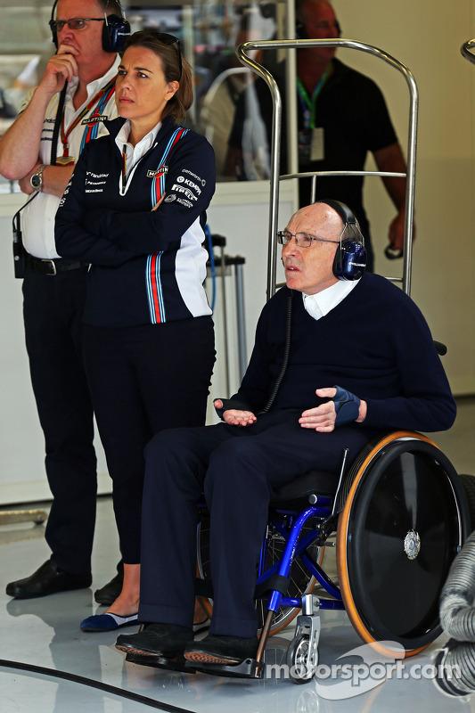 Frank Williams, Williams proprietario del team con la figlia Claire Williams, Williams Vice Team Pri