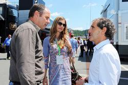 Gerhard Berger mit Freundin Helene; Alain Prost (FRA)