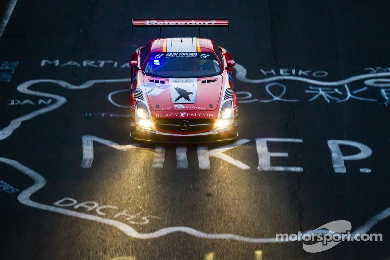 #1 Black Falcon Mercedes-Benz SLS AMG GT3: Lance David Arnold, Jeroen Bleekemolen, Andreas Simonsen, Christian Menzel
