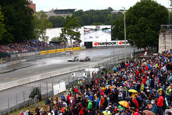 Maxime Martin, RMG BMW M4 DTM del equipo BMW y Mattias Ekstrom, Abt Sportsline, Audi A5 DTM del Audi Sport Team.