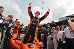 Simon Pagenaud, Schmidt Peterson Hamilton Motorsports Honda celebrates