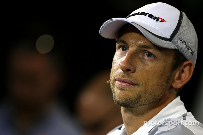 FIA-Pressekonferenz: Jenson Button, McLaren F1 Team