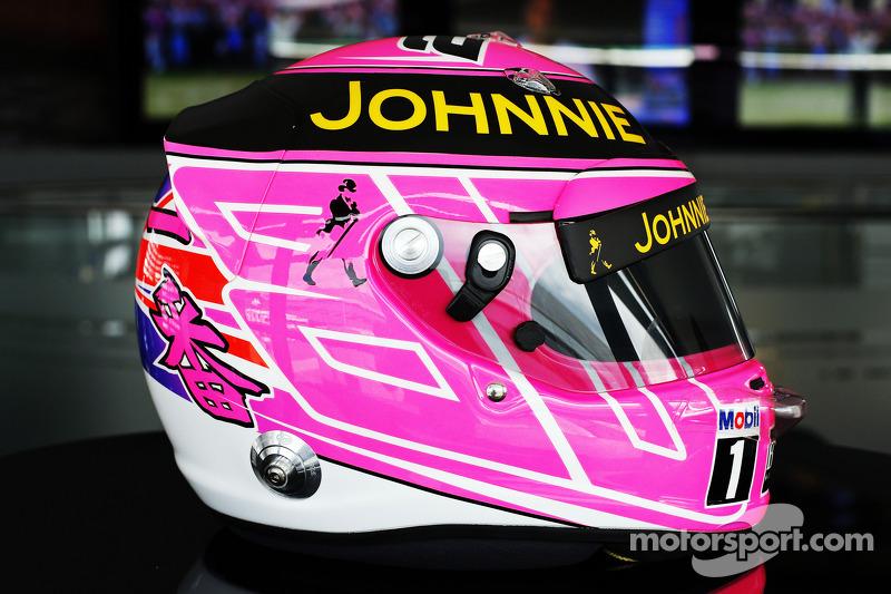 «Розовый» шлем с Гран При Великобритании 2014 года