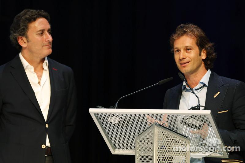 Jarno Trulli e Alejandro Agag, CEO, Formula E