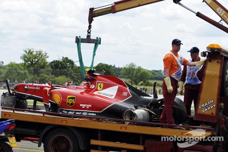 Ferrari von Kimi Räikkönen nach Crash
