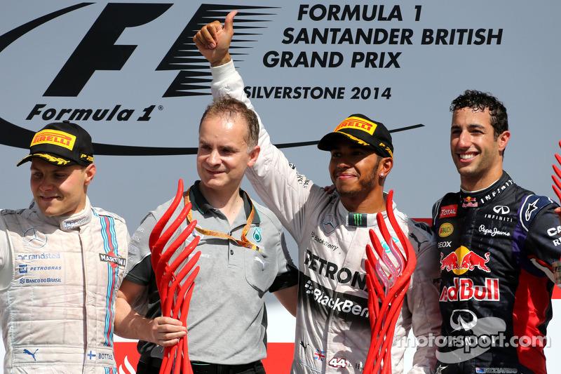 Valtteri Bottas, Williams F1 Team, Lewis Hamilton, Mercedes AMG F1 Team e Daniel Ricciardo, Red Bull Racing