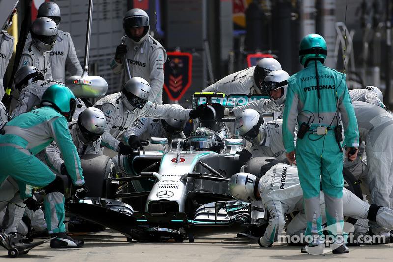 Boxenstopp: Nico Rosberg, Mercedes AMG F1 Team