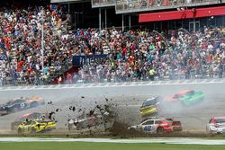 Multi-car crash on the tri-oval