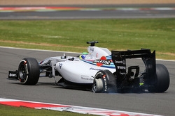 Felipe Massa, Williams FW36 ve patlak lastik
