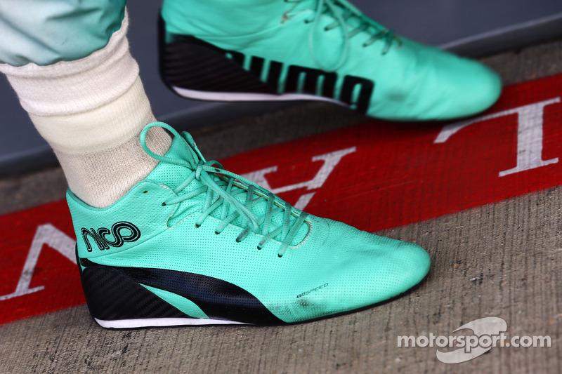 Gli stivali da corsa di Nico Rosberg, Mercedes AMG F1