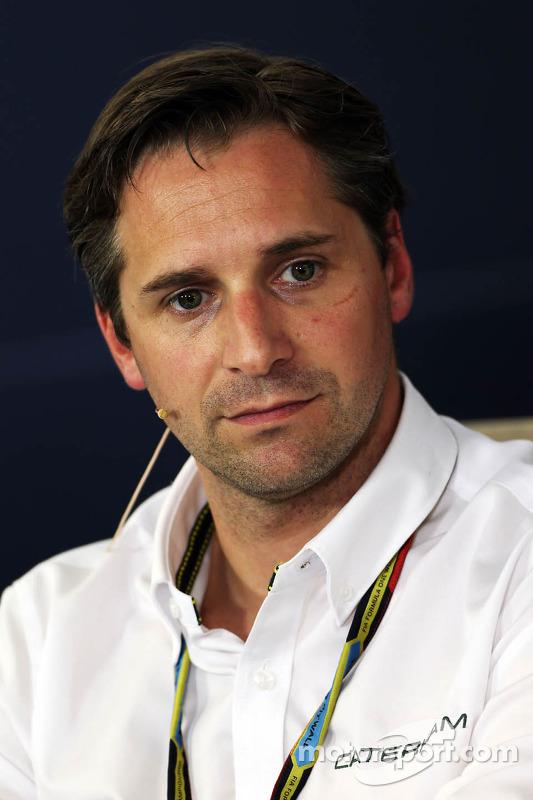 Christian Albers, chefe de equipe da Caterham F1 Team, na coletiva de imprensa