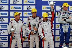 Overall podium: second place Simon Dolan, Harry Tincknell, Filipe Albuquerque
