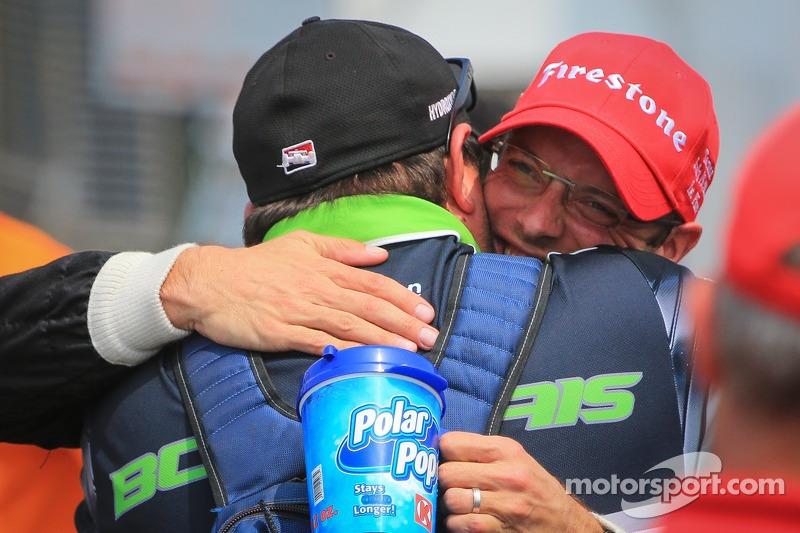 Sébastien Bourdais, KVSH corsa Chevrolet festeggia