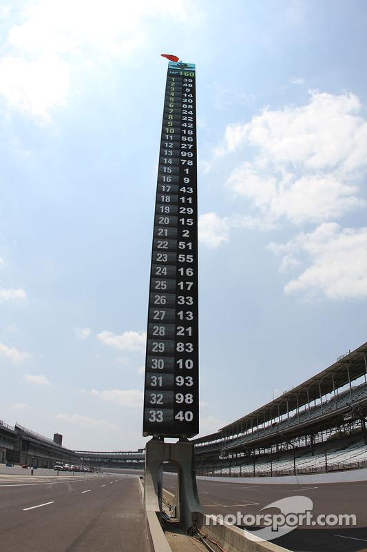 Il nuovo pilone del punteggio all'Indianapolis Motor Speedway