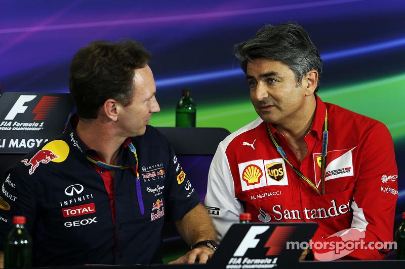 Christian Horner, Red Bull Racing Takım Patronu ve Marco Mattiacci, Ferrari Takım Müdürü FIA Basın Konferansı'nda