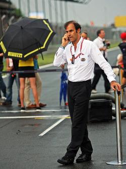 Эмануэле Пирро. ГП Венгрии, Воскресенье, перед гонкой.
