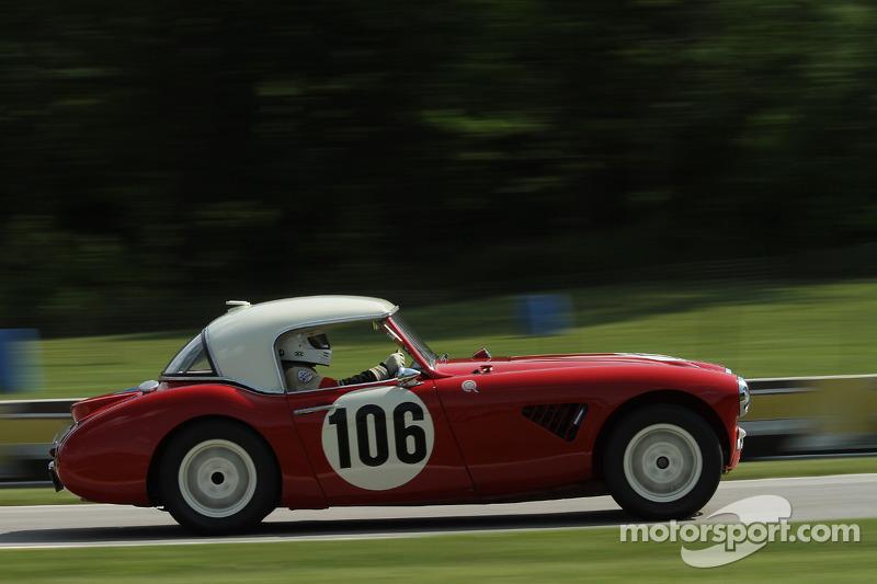 #106 1957 Austin Healey 100/6: Jim Gregg