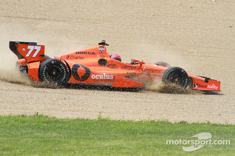 Simon Pagenaud, Schmidt Peterson Hamilton Motorsports Honda, incidente