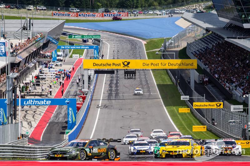 Partenza:Robert Wickens, HWA DTM Mercedes AMG C-Coupé al comando