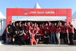 Secondo posto per Robert Huff, LADA Granta 1.6T, LADA Sport Lukoil