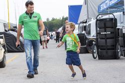 Scott Sharp and son