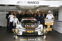 Winner Marco Wittmann, BMW Team RMG BMW M4 DTM with his Team