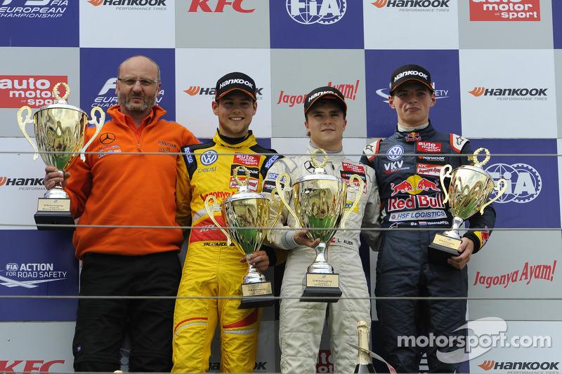 Tom Blomqvist, Lucas Auer, Max Verstappen