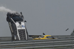 Massive crash for #88 Reiter Engineering Lamborghini LFII: Stefan Rosina, Tomas Enge