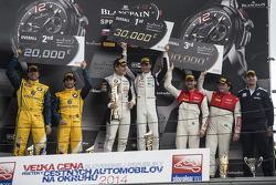 领奖台:比赛获胜者 Thomas Jäger, Dominik Baumann, 第二名 Caca Bueno, Sergio Jimenez, 第三名 René Rast, Enzo Ide
