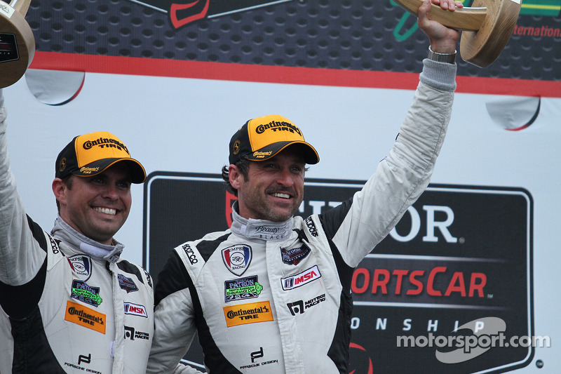 3rd place- #27 Dempsey Racing Porsche 911 GT America: Patrick Dempsey & Andrew Davis