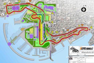 La proposta del circuito per il Gran Premio del Mediterraneo