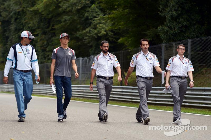 Esteban Gutierrez, Sauber pistte yürüyor