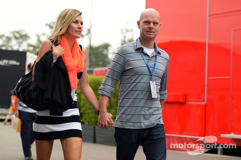 Jan Magnussen, con la moglie Christina