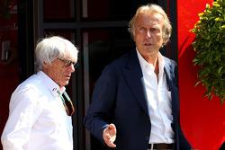 Bernie Ecclestone; Luca di Montezemolo, Ferrari, Präsident