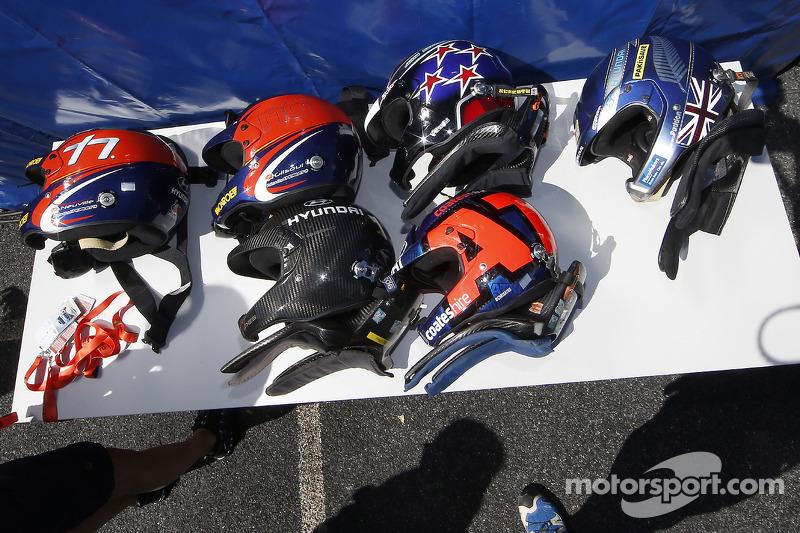 Hyundai caschi dei piloti