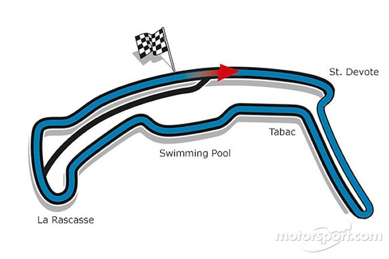 Il disegno per il Monaco ePrix che utilizza parte del circuito di Formula Uno