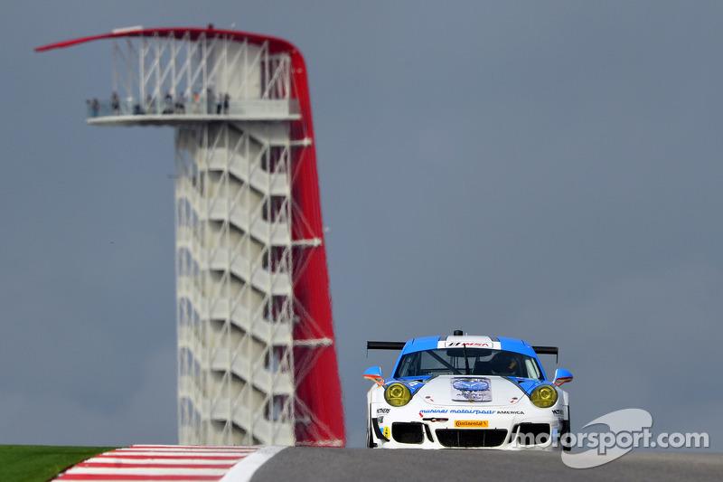 #18 Muehlner Motorsports America 保时捷 911 GT America: 卡勒德·阿尔库拜西, 拉里·佩格勒姆