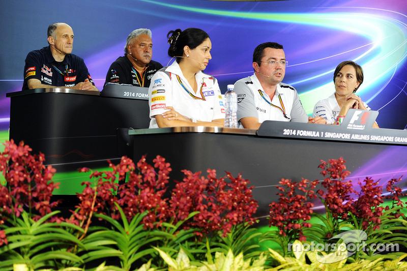 Conferenza stampa della FIA, Scuderia Toro Rosso Team Principal; Dr. Vijay Malya