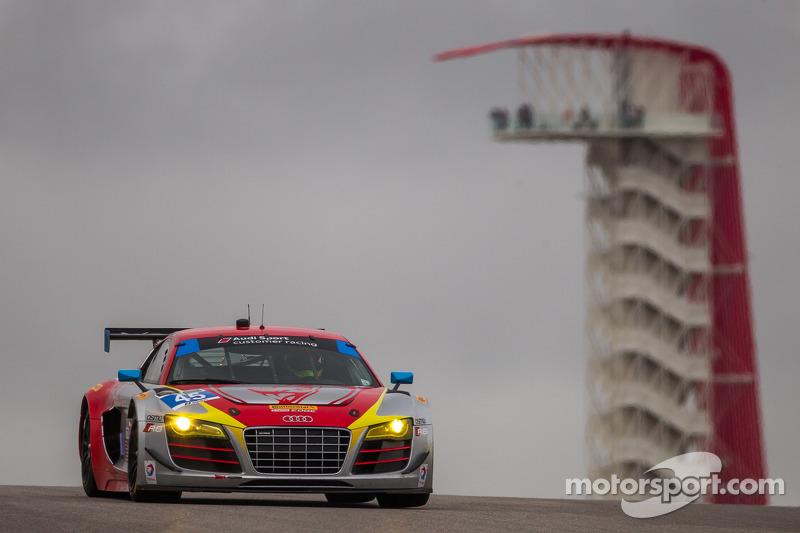 #45 Flying Lizard Motorsports 奥迪 R8 LMS: 尼尔森·卡纳切, 斯潘瑟·庞佩利