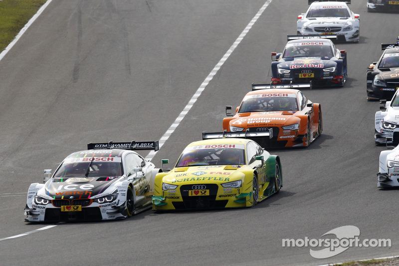 Partenza: Marco Wittmann, BMW Team RMG BMW M4 DTM e Mike Rockenfeller, Audi Sport Team Phoenix Audi RS 5 DTM al comando