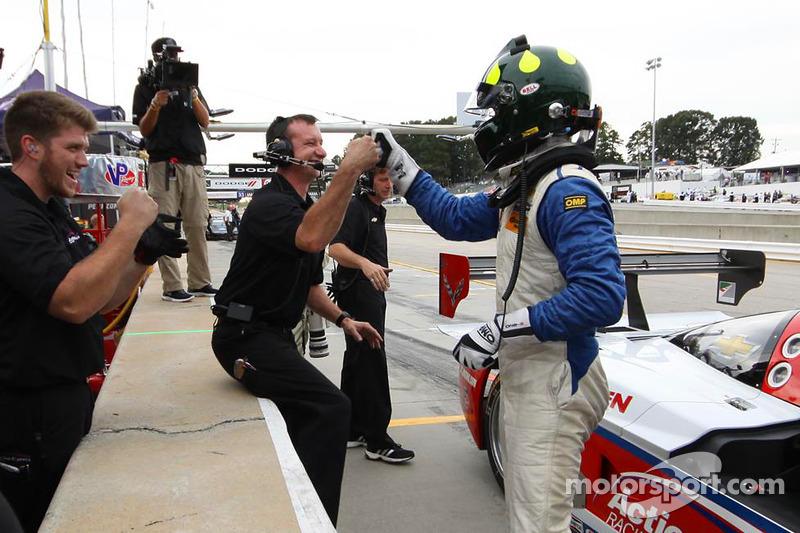 Christian Fittipaldi kutlama yapıyor