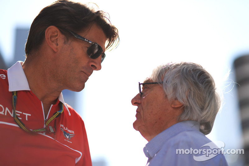 (L to R): Graeme Lowdon, Marussia F1 Team Chief Executive Officer with Bernie Ecclestone