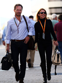 Christian Horner, Red Bull Racing, mit Geri Halliwell